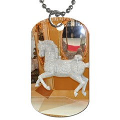 White Horse Dog Tag (One Side)