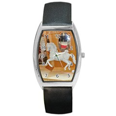 White Horse Barrel Style Metal Watch