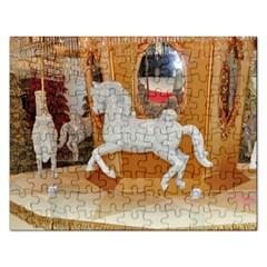 White Horse Jigsaw Puzzle (Rectangular)