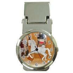 White Horse Money Clip Watch