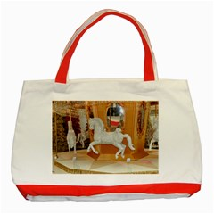 White Horse Classic Tote Bag (Red)