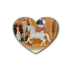 White Horse Rubber Coaster (Heart)