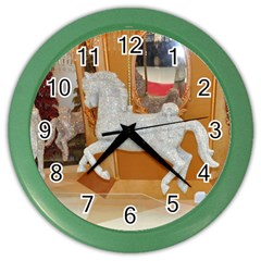 White Horse Color Wall Clock