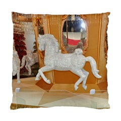 White Horse Cushion Case (two Sides)