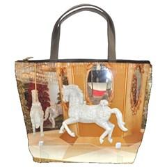 White Horse Bucket Bag