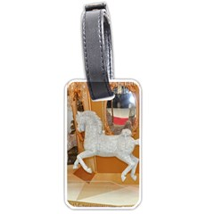 White Horse Luggage Tag (one side)