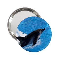 Swimming Dolphin 2.25  Handbag Mirror