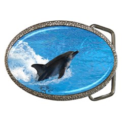 Swimming Dolphin Belt Buckle