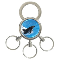 Swimming Dolphin 3-Ring Key Chain