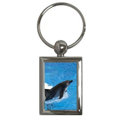 Swimming Dolphin Key Chain (rectangle)