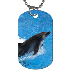 Swimming Dolphin Dog Tag (one Side)