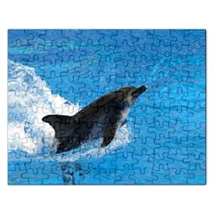 Swimming Dolphin Jigsaw Puzzle (Rectangular)