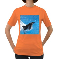 Swimming Dolphin Women s Dark T-Shirt