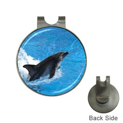 Swimming Dolphin Golf Ball Marker Hat Clip