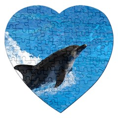 Swimming Dolphin Jigsaw Puzzle (Heart)