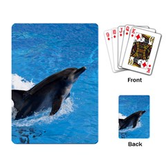 Swimming Dolphin Playing Cards Single Design