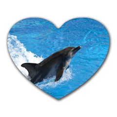 Swimming Dolphin Mousepad (heart)