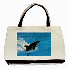 Swimming Dolphin Classic Tote Bag (Two Sides)