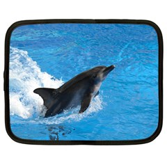 Swimming Dolphin Netbook Case (Large)