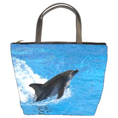 Swimming Dolphin Bucket Bag