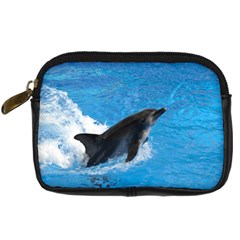Swimming Dolphin Digital Camera Leather Case