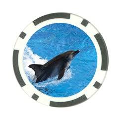 Swimming Dolphin Poker Chip Card Guard (10 Pack)