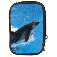 Swimming Dolphin Compact Camera Leather Case