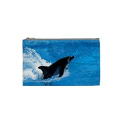 Swimming Dolphin Cosmetic Bag (Small)