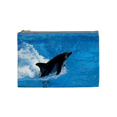 Swimming Dolphin Cosmetic Bag (Medium)