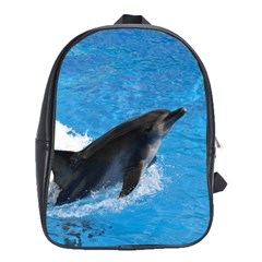 Swimming Dolphin School Bag (Large)