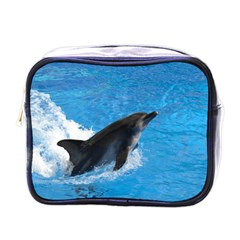 Swimming Dolphin Mini Toiletries Bag (One Side)
