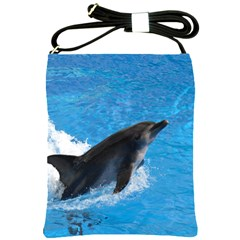 Swimming Dolphin Shoulder Sling Bag