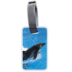 Swimming Dolphin Luggage Tag (one side)
