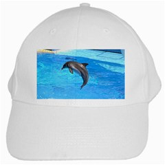 Jumping Dolphin White Cap