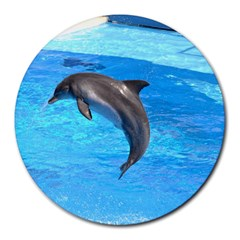 Jumping Dolphin Round Mousepad