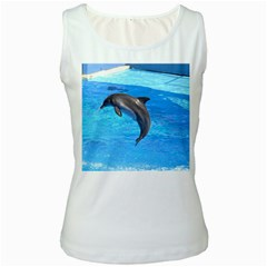 Jumping Dolphin Women s Tank Top