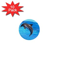 Jumping Dolphin 1  Mini Button (10 Pack)