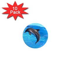 Jumping Dolphin 1  Mini Magnet (10 Pack)