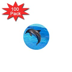 Jumping Dolphin 1  Mini Button (100 pack)