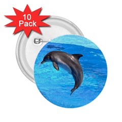 Jumping Dolphin 2 25  Button (10 Pack)