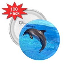 Jumping Dolphin 2 25  Button (100 Pack)