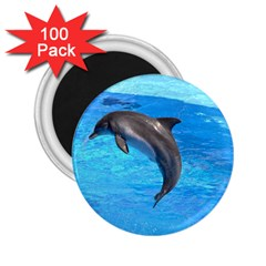 Jumping Dolphin 2 25  Magnet (100 Pack)