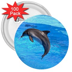 Jumping Dolphin 3  Button (100 pack)