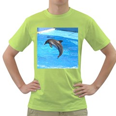 Jumping Dolphin Green T Shirt
