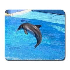 Jumping Dolphin Large Mousepad
