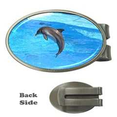 Jumping Dolphin Money Clip (oval)