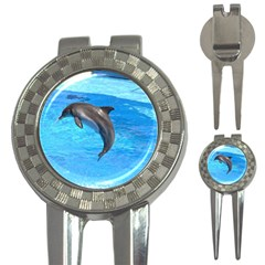 Jumping Dolphin 3-in-1 Golf Divot