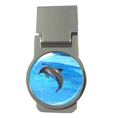Jumping Dolphin Money Clip (round)