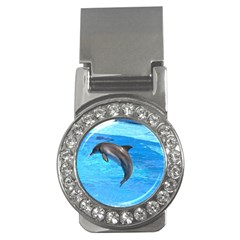Jumping Dolphin Money Clip (CZ)