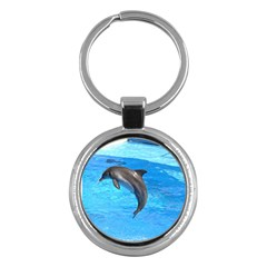 Jumping Dolphin Key Chain (Round)